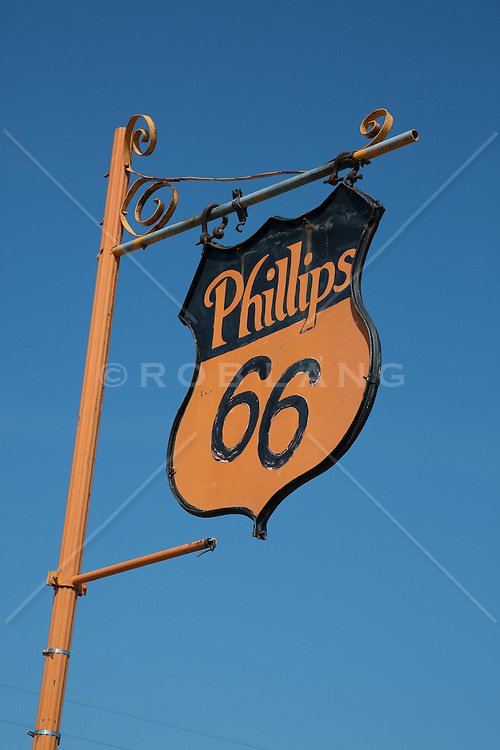 Phillips gas station sign on Route 66 in Texas
