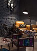 """Фотосъемка интерьеров для ресторанов и кафе. Съемка пространства галереи-бара """"It's not the Louvre"""", Киев."""