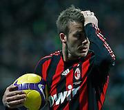 """David Beckham (Milan).Milano 15/2/2009 Stadio """"Giuseppe Meazza"""".Campionato Italiano Serie A.Inter Milan."""