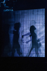 Pictured:<br /> <br /> Dancers Tobias Batley and Martha Leebolt, who take the lead roles in 1984,  performed in full costume ahead of the premier of the ballet in the Festival Theatre, Edinburgh. 31 March 2016 tonight. The ballet runs until Saturday 2 April.<br /> <br /> Ger Harley   Edinburghelitemedia.co.uk