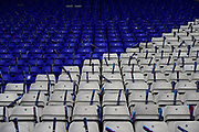 Blue and White seats during the EFL Sky Bet Championship match between Birmingham City and Aston Villa at St Andrews, Birmingham, England on 29 October 2017. Photo by Dennis Goodwin.