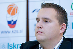 Matej Avanzo at press conference when announced that Zdovc is a new Slovenian Head coach of Basketball National team, on November 25, 2008 in City Hotel, Ljubljana, Slovenia.  (Photo by Vid Ponikvar / Sportida)