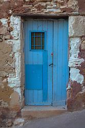 wooden door found in Mykonos, Greece