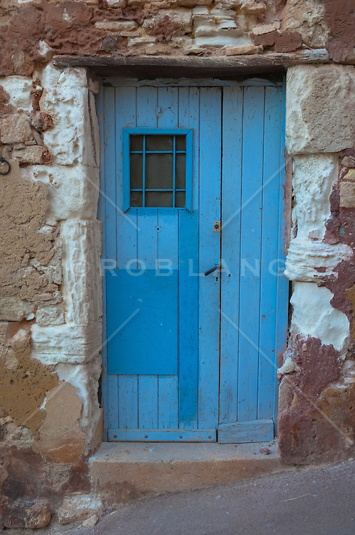 wooden door found in Mykonos, Greece