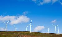 Wind turbines in southern Washington State.