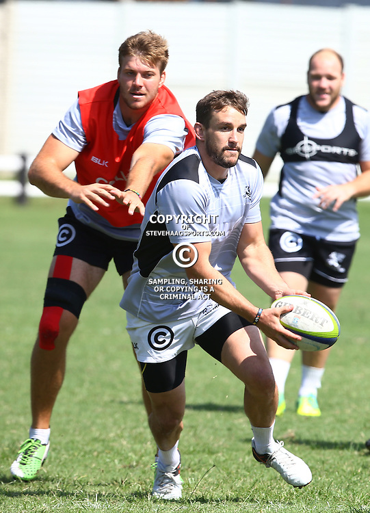 DURBAN, SOUTH AFRICA, 4 April, 2016 - Keegan Daniel during The Cell C Sharks training session  at Growthpoint Kings Park in Durban, South Africa. (Photo by Steve Haag)<br /> images for social media must have consent from Steve Haag