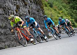 10.07.2019, Fuscher Törl, AUT, Ö-Tour, Österreich Radrundfahrt, 4. Etappe, von Radstadt nach Fuscher Törl (103,5 km), im Bild Carlos Barbero (ESP, Movistar Team) und das Movistar Team, ESP // Carlos Barbero of Spain (Movistar Team) and the Movistar Team of Spain during 4th stage from Radstadt to Fuscher Törl (103,5 km) of the 2019 Tour of Austria. Fuscher Törl, Austria on 2019/07/10. EXPA Pictures © 2019, PhotoCredit: EXPA/ Reinhard Eisenbauer