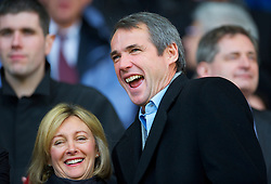 LIVERPOOL, ENGLAND - Sunday, March 28, 2010: Liverpool legend Alan Hansen sees his side take on Sunderland during the Premiership match at Anfield. (Photo by: David Rawcliffe/Propaganda)