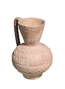 Islamic Terra-cotta ewer with Arabic inscription 7th-8th Century CE 19.2 cm high