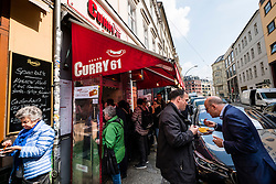 Busy Curry 61 currywurst fast food restaurant in Mitte Berlin Germany