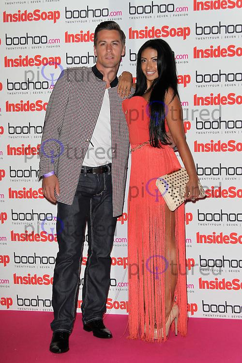 LONDON - SEPTEMBER 24: Matt Evers; Karen Hauer attended the 'Inside Soap Awards' at One Marylebone, London, UK. September 24, 2012. (Photo by Richard Goldschmidt)