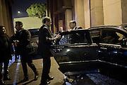 Silvio Berlusconi a Cinecittà per raggiungere lo studio della trasmissione televisiva Servizio Pubblico oggi, 10 gennaio 2013<br /> PHOTO Christian Mantuano / OneShot