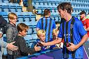 Gillingham FC midfielder Billy Bingham (16) shakes hands of the fans after  the EFL Sky Bet League 1 match between Gillingham and Coventry City at the MEMS Priestfield Stadium, Gillingham, England on 25 August 2018.