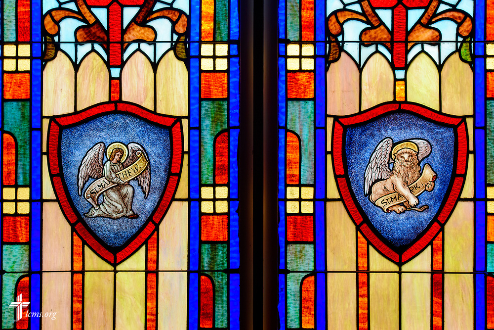 Stained glass depicting St. Matthew and St. Mark at St. Paul Lutheran Church, San Antonio, Texas on Wednesday, Aug. 2, 2017, in San Antonio. LCMS Communications/Erik M. Lunsford