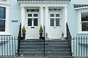 Elegant seafront houses at Aberdyfi, Aberdovey, Snowdonia, Wales