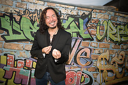 © Licensed to London News Pictures . 08/08/2015 . Siddington , UK . STEVE AUGERI backstage at The Rewind Festival of 1980s music , fashion culture at Capesthorne Hall in Macclesfield . Photo credit: Joel Goodman/LNP