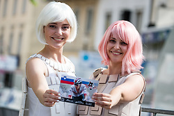 Hostesses of company TEM Catez after 5th Stage of 26th Tour of Slovenia 2019 cycling race between Trebnje and Novo mesto (167,5 km), on June 23, 2019 in Slovenia. Photo by Matic Klansek Velej / Sportida