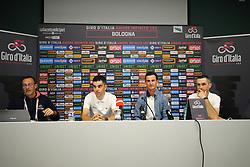 Foto Filippo Rubin/LaPresse <br /> 09 maggio 2019 Bologna (Italia)<br /> Sport Ciclismo<br /> Giro d'Italia 2019 - edizione 102 - Conferenza Stampa Team.<br /> Nella foto: AG2R.GALLOPIN Tony, VUILLERMOZ Alexis, DUPONT Hubert<br /> <br /> Photo Filippo Rubin/LaPresse<br /> May 09, 2019  Bologna (Italy)  <br /> Sport Cycling<br /> Giro d'Italia 2019 - 102th edition - Team Press Conference .<br /> In the pic: AG2R. GALLOPIN Tony, VUILLERMOZ Alexis, DUPONT Hubert