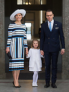 Royals Attend Te Deum Service For King Gustaf