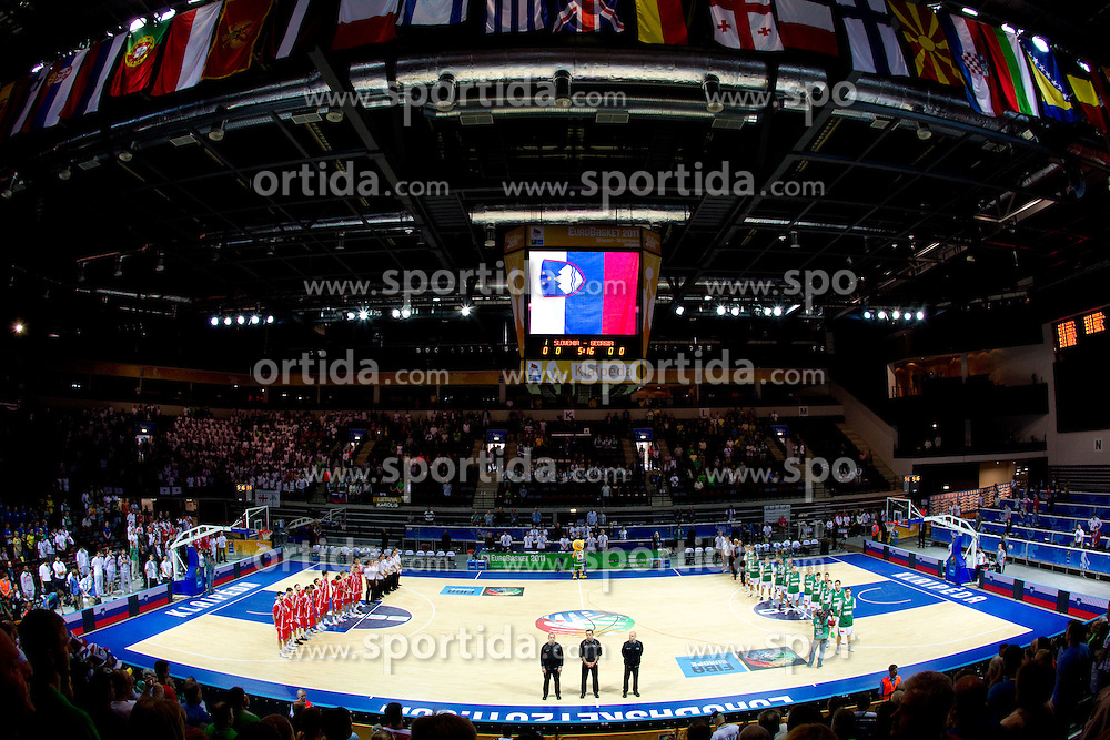 Arena Klaipeda during basketball match between National teams of Slovenia and Georgia in Group D of Preliminary Round of Eurobasket Lithuania 2011, on September 3, 2011, in Arena Svyturio, Klaipeda, Lithuania. (Photo by Vid Ponikvar / Sportida)