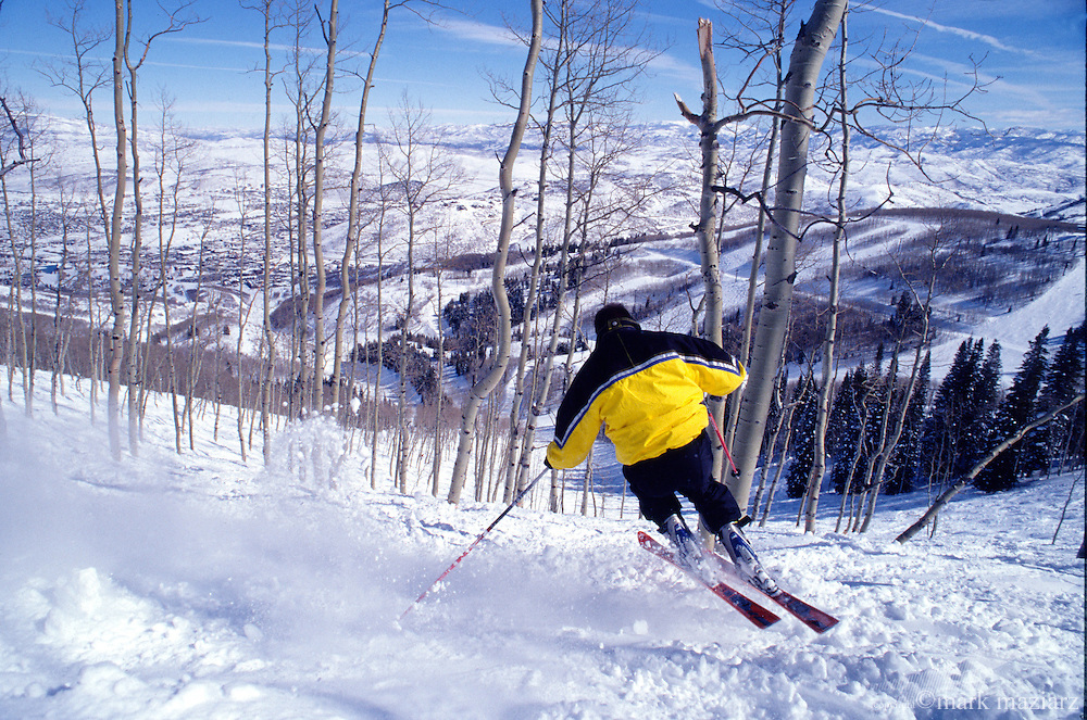 Hans skiing a gladePark City Mntn Resort, Utah