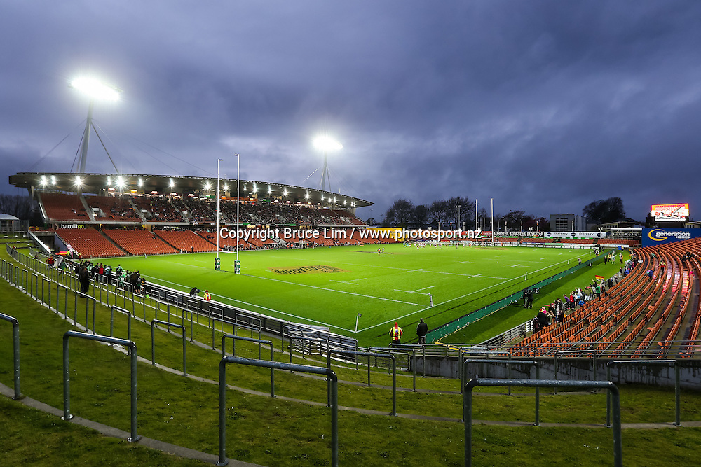 General view of FMG Stadium Waikato during round 3 of the Mitre 10 Cup rugby union national provincial championship - Waikato v Manawatu played at FMG Stadium Waikato, Hamilton, New Zealand on Sunday 4 September 2016.  <br /> <br /> Copyright Photo: Bruce Lim / www.photosport.nz