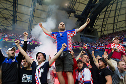 14-06-2012 VOETBAL: UEFA EURO 2012 DAY 7: POLEN OEKRAINE<br /> Blad blue boys, fans of Croatia during the Euro 2012 football championships match Italy v Croatia at the stadium in Poznan. <br /> ***NETHERLANDS ONLY***<br /> ©2012-FotoHoogendoorn.nl
