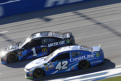 October 14, 2018 - Talladega, Alabama, United States of America - Kyle Larson (42) battles for position during the 1000Bulbs.com 500 at Talladega Superspeedway in Talladega, Alabama. (Credit Image: © Justin R. Noe Asp Inc/ASP via ZUMA Wire)