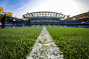 A general view inside Stamford Bridge Stadium during the Europa League  quarter-final, leg 2 of 2 match between Chelsea and Slavia Prague at Stamford Bridge, London, England on 18 April 2019.
