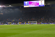 VAR review a penalty appeal during the Premier League match between Leicester City and Watford at the King Power Stadium, Leicester, England on 4 December 2019.