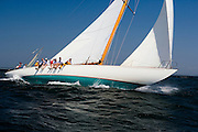 Gleam at the Museum of Yachting 12 Meter Regatta