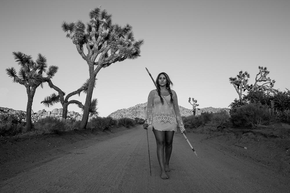 D'onna Vasquez, in Joshua Tree.