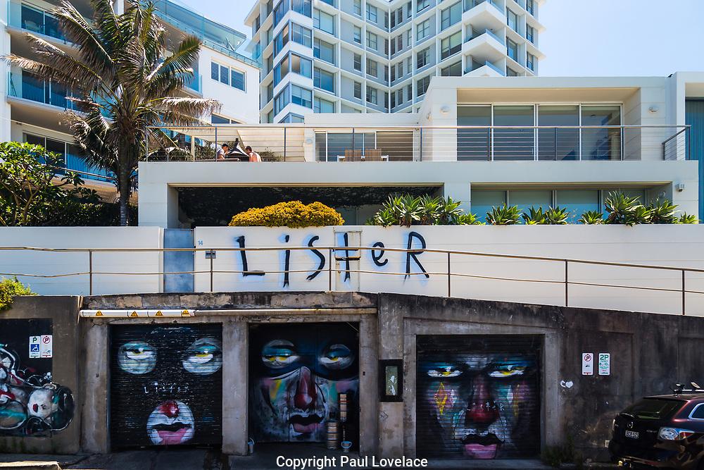 Luxury Apartments overlooking Bondi Beach, with Graffiti, Sydney, Australia