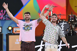 August 10, 2018 - New York, NY, USA - August 10, 2018 New York City..Alex Pall and Drew Taggart of The Chainsmokers performing on Good Morning America's Summer Concert Series in Central Park on August 10, 2018 in New York City. (Credit Image: © Kristin Callahan/Ace Pictures via ZUMA Press)