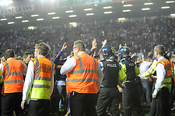 Stewards and police keep the fans separate  - Photo mandatory by-line: Dougie Allward/JMP - Tel: Mobile: 07966 386802 04/09/2013 - SPORT - FOOTBALL -  Ashton Gate - Bristol - Bristol City V Bristol Rovers - Johnstone Paint Trophy - First Round - Bristol Derby