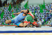 Ashgabat 2017 - 5th Asian Indoor & MartialArts Games 25-09-2017. Wrestling Mens 86kg - Muhammad Inam (PAK) v A. Davlumbayev (KAZ)