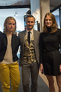 ESZTER MURAY; MICHA WEIDMANN; NATALIE BRAUNE, The preview of LAPADA Art and Antiques Fair. Berkeley Sq. London. 21 September 2015.