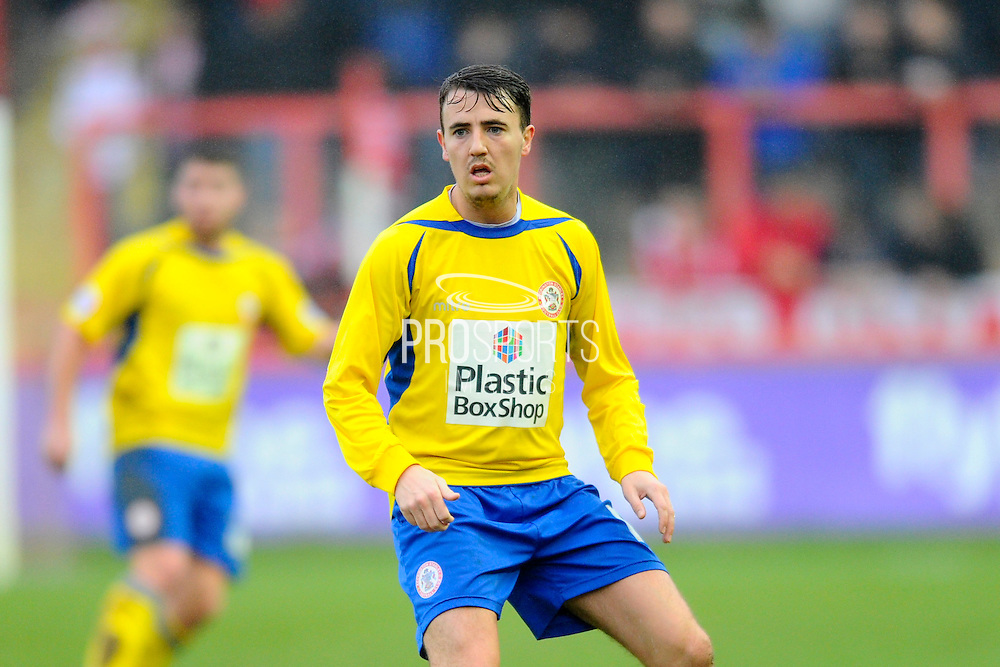 Accrington Stanley's Sean McConville during the Sky Bet League 2 match between Exeter City and Accrington Stanley at St James' Park, Exeter, England on 23 January 2016. Photo by Graham Hunt.