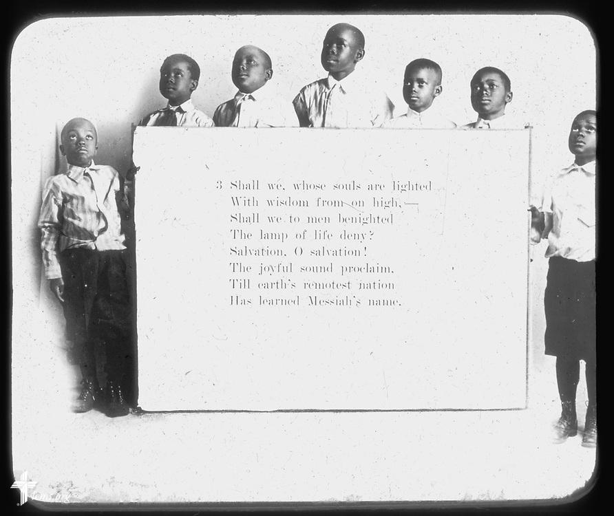 Lantern slides, circa 1900-1930. A gift to LCMS Black Ministry