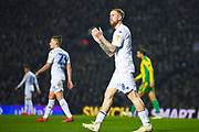 Pontus Jansson of Leeds United (18) in action during the EFL Sky Bet Championship match between Leeds United and West Bromwich Albion at Elland Road, Leeds, England on 1 March 2019.