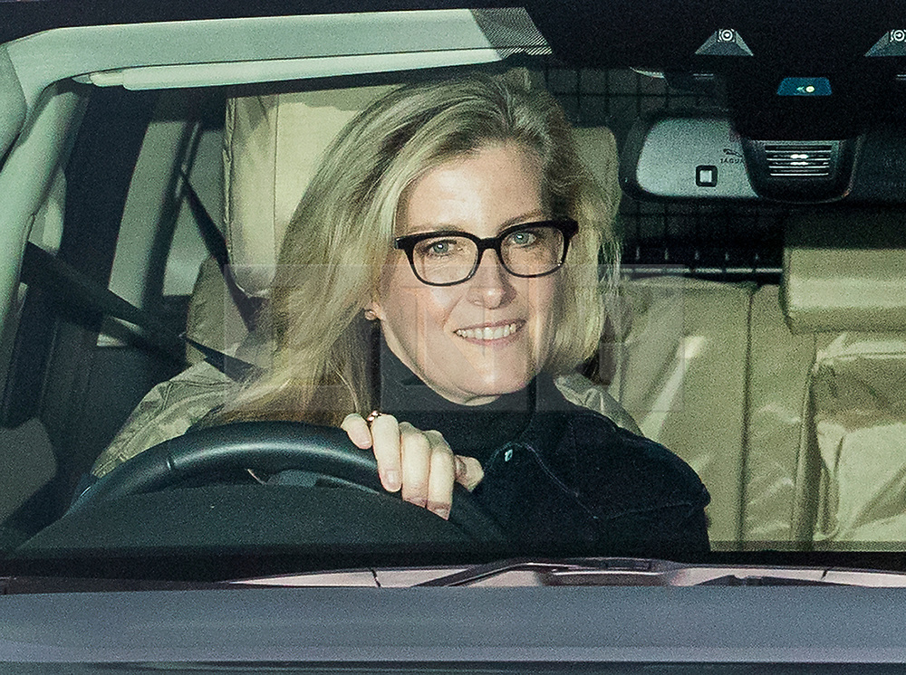 © Licensed to London News Pictures. 20/12/2017. London, UK. Sophie, Countess of Wessex leaves Buckingham Palace after attending the Queen's annual Christmas lunch. Photo credit: Peter Macdiarmid/LNP