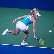 August 30, 2017 - New York, NY : Daria Gavrilova, in blue, competes against Allie Kiick, not visible,  in the Grandstand on the third day of the U.S. Open, at the USTA Billie Jean King National Tennis Center in Queens, New York, on Wednesday. <br /> CREDIT : Karsten Moran for The New York Times
