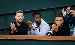March 15, 2019 - Indian Wells, USA - Gael Monfils watches girlfriend Elina Svitolina at the 2019 BNP Paribas Open WTA Premier Mandatory tennis tournament (Credit Image: © AFP7 via ZUMA Wire)