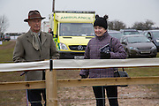 RODDY HARVEY-BAILEY; JILL GRIMMOND, Heythrop Point to Point. At a  new course at Cocklebarrow near Aldsworth. 11 January 2014