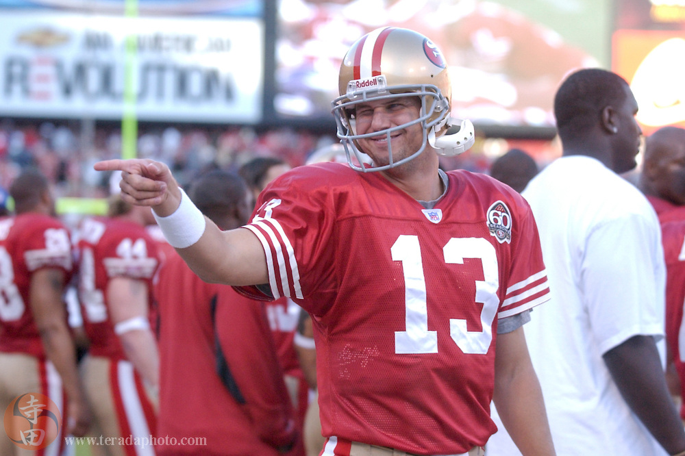 Nov 5, 2006 San Francisco, CA, USA: San Francisco 49ers quarterback Shaun Hill (13) during the second half against the Minnesota Vikings at Monster Park. The 49ers defeated the Vikings 9-3.