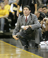 26 NOVEMBER 2007: Wake Forest head coach Dino Gaudio looks on in Wake Forest's 56-47 win over Iowa at Carver-Hawkeye Arena in Iowa City, Iowa on November 26, 2007.