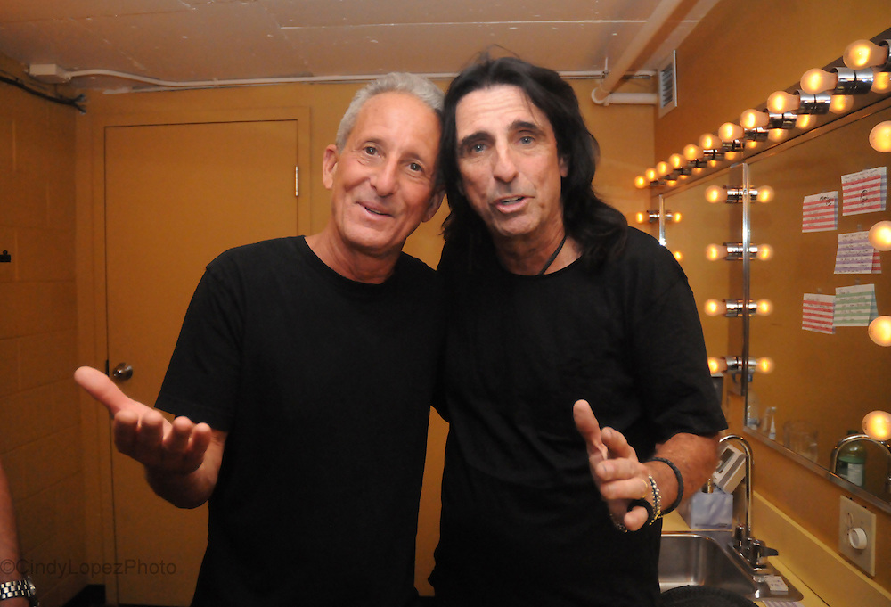 Bobby Slayton and Alice Cooper backstage at The Nasty Show. Photo for Just for Laughs. 2012.