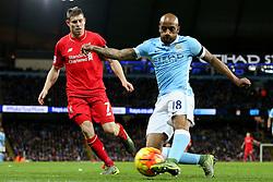 Fabian Delph of Manchester City clears the ball - Mandatory byline: Matt McNulty/JMP - 07966 386802 - 21/11/2015 - FOOTBALL - Etihad Stadium - Manchester, England - Manchester City v Liverpool - Barclays Premier League