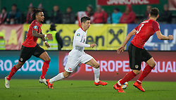 March 21, 2019 - Vienna, Austria - (L-R) Valentino Lazaro of Austra, Robert Lewandowski of Poland and Aleksandar Dragovic of Austra during the UEFA European Qualifiers 2020 match between Austria and Poland at Ernst Happel Stadium in Vienna, Austria on March 21, 2019. (Credit Image: © Foto Olimpik/NurPhoto via ZUMA Press)