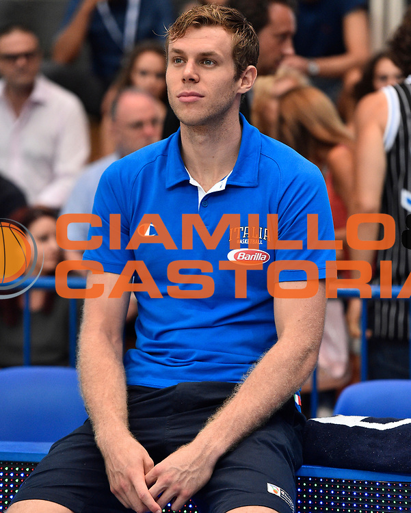 DESCRIZIONE : Trento Nazionale Italia Uomini Trentino Basket Cup Italia Austria Italy Austria <br /> GIOCATORE : Nicolo Melli<br /> CATEGORIA : Before <br /> SQUADRA : Italia Italy<br /> EVENTO : Trentino Basket Cup<br /> GARA : Italia Austria Italy Austria<br /> DATA : 31/07/2015<br /> SPORT : Pallacanestro<br /> AUTORE : Agenzia Ciamillo-Castoria/GiulioCiamillo<br /> Galleria : FIP Nazionali 2015<br /> Fotonotizia : Trento Nazionale Italia Uomini Trentino Basket Cup Italia Austria Italy Austria